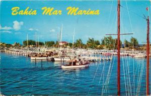 Bahia Mar Marina Yacht Basin Fort Lauderdale Florida FL 1950's Postcard