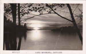 RP; LAKE MUSKOKA, Ontario, Canada; Sunset, PU-1949