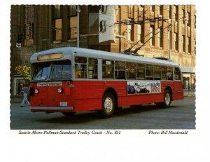 Seattle Metro Pullman Standard Trolley Coach, Downtown, Washington