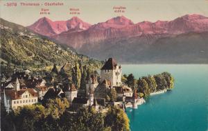 Panorama, Thunersee - Oberhofen, Berne, Switzerland, 1900-1910s