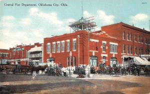 Oklahoma City Oklahoma Central Fire Department Vintage Postcard JD228153