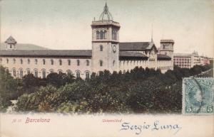 BARCELONA, Cataluna, Spain, 1900-1910's; Universidad