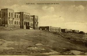 syria, ALEP ALEPPO ﺣَﻠَﺐ, Cavalry Barracks 1910s Wattar Freres No. 276 Postcard