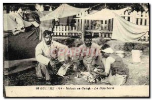 Old Postcard Army Hindus camp Butchery