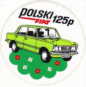 POLSKI 125P FIAT MANUFACTURING LABEL POLAND