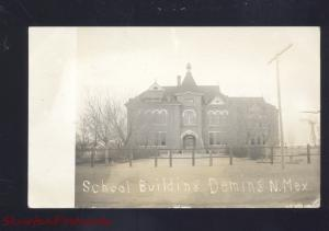 RPPC DEMING NEW MEXICO SCHOOL BUILDING VINTAGE REAL PHOTO POSTCARD 1912 NM