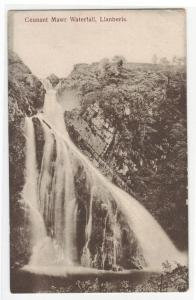 Ceunant Mawr Waterfall Llanberis Wales UK 1910s postcard