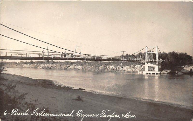 G42/ Foreign RPPC Postcard Mexico Tampas Puente International Bridge c30s