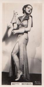 Betty Benson Hollywood Actress Rare Real Photo Cigarette Card