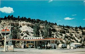 1950s Chrome PC; Ramsay Bros Service American Gas Station Mt Carmel Junction UT