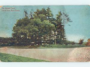 Divided-Back VERY EARLY CAR RACETRACK Lowell Massachusetts MA ho6482