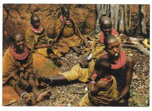 Masai Women East Africa Kenya Traditional Dress Postcard