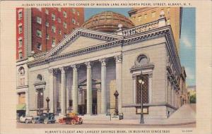 New York Albany Savings Bank At The Corner Of Maiden Lane And North Pearl Str...