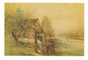 Old Barley Mill Brandywine Creek Artist Robert Shaw Hagley Museum 4X6 Postcard
