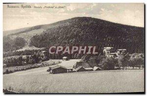 Postcard Old Sumava Spicak Hotely Prokop