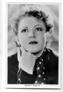 b3747 - Film Actress - Beverly Roberts - postcard Picturegoer no 1187