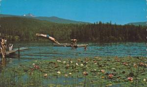 Dutch Lake Resort, Diving, Clearwater, British Columbia, Canada, 1940-1960s