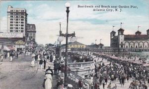New Jersey Atlantic City Boardwalk And Near Garden Pier 1919