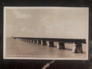 Mint Usa RPPC Real Picture Postcard Seven Mile Bridge US 1 Key West Fl