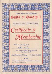 Kings Lynn News Advertising Book Reader Guild Membership Ephemera