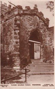 RP: PICKERING, Yorkshire, England, 1900-1910's; Parish Church Porch