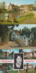 Flatford Mill Suffolk 4x 1970s Postcard