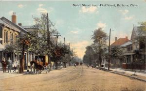 E89/ Bellaire Belmont Ohio Postcard c1910 Noble Street 43rd Delivery Wagon 6