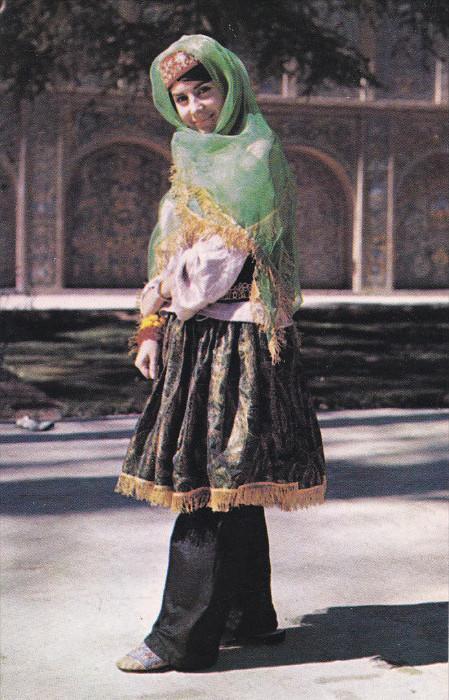Iranian National Costume , Caspian - Mazandran , Iran , 50-60s
