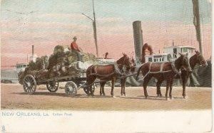 New Orleans, La. Cotton Float. Horses Tuck  New Orleans Ser. PC # 2475