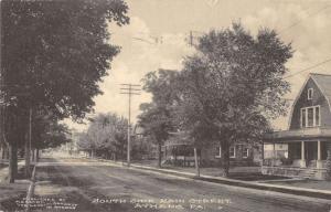 Athens Pennsylvania South Side Main Street Antique Postcard K32277