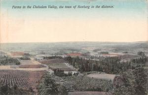 Farms in the Chehalem Valley, the town of Newberg in the distance 1909