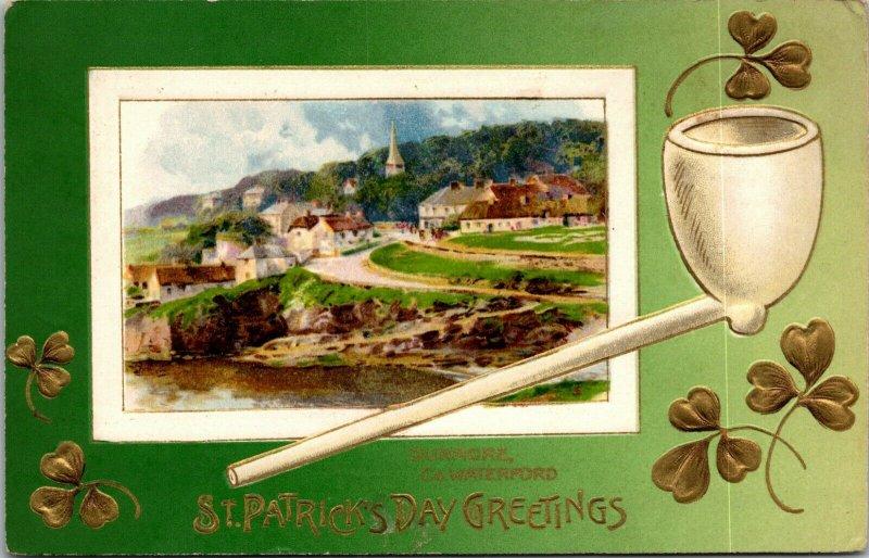 VINTAGE - POSTCARD - ST. PATRICK'S DAY - DUNMORE - WATERFORD GREETINGS