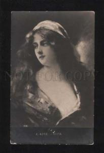 052604 Lady w/ Long Hair by Angelo ASTI old PHOTO RARE