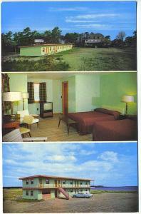 Old Orchard Beach ME Ocean Spray Motel Hotel Old Car Postcard