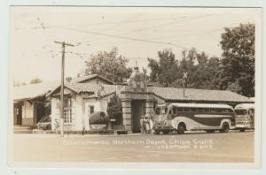 Sacramento CA GREYHOUND BUS NORTHERN DEPOT RPPC BY EASTMAN Postcard