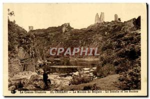 Old Postcard Crozant The Mill Brigant The Sedelle and ruins