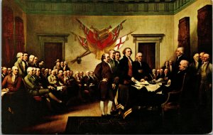 Vtg Declaration of Independence Painting Capitol Rotunda Washington DC Postcard