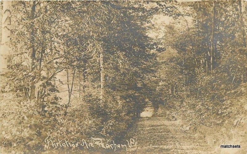 1920s Pearham Vermont Flirtation Avenue RPPC real photo postcard 5359