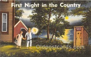First Night in the Country Outhouse 1950