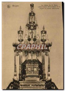 Old Postcard Bruges Hunt St Blood Hunt gold silver and precious stones