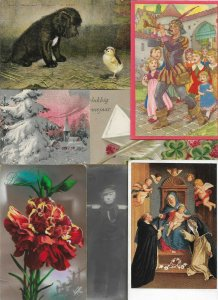 Artist Signed Theme People Flowers Fantasy Postcard Lot of 20 01.14