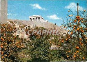Postcard Modern Athens Acropolis