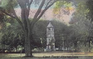 Street view showing Clock Tower, Sharon, Connecticut, 00-10s