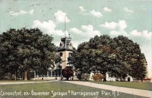 11356   RI Narragansett Pier  Canonchet Mansion of  Ex-Governor Sprague
