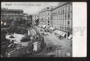 100588 ITALY Napoli via S.Carlo e Giardino Reale Vintage PC