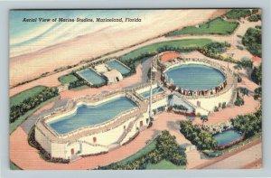 FL-Florida, Aerial of Marine Motion Picture Studios, Marineland ,Linen Postcard