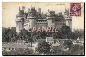 Old Postcard The Chateau de Pierrefonds
