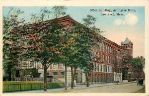 Lawrence Massachusetts~Office Building~Arlington Mills~Clock Tower~Buggy~1920s