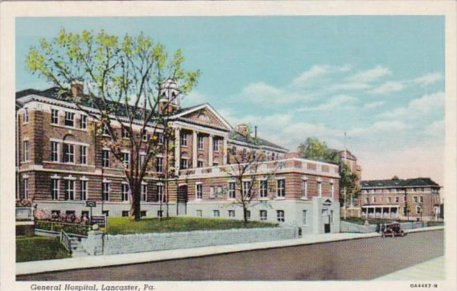 Pennsylvania Lancaster General Hospital Curteich / HipPostcard