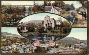 Vintage 1919 Wales Llangollen Multi View Postcard Y98